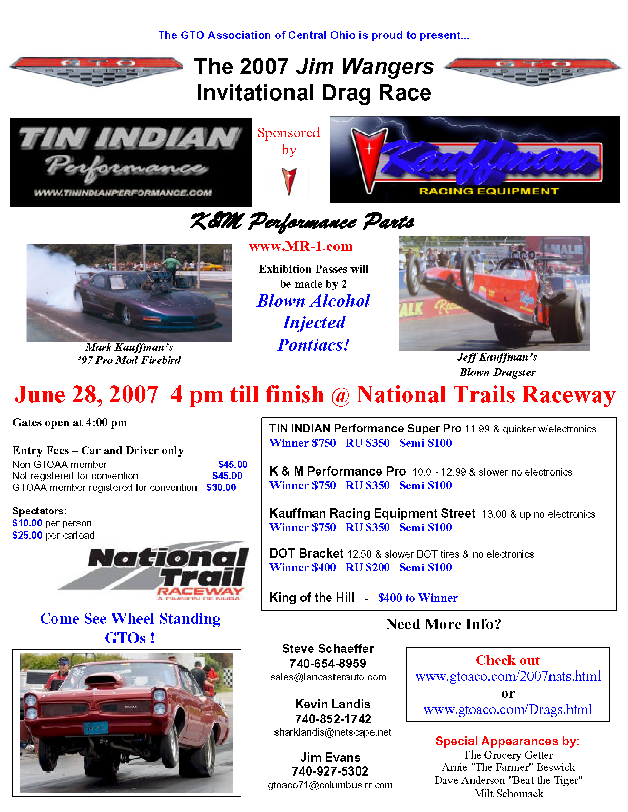 2007 GTOAA Drag Race Flyer