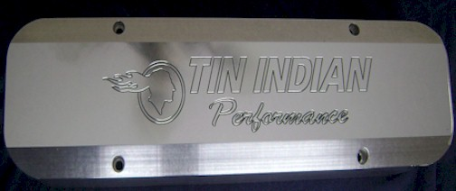 Custom Aluminum Pontiac Valve Covers Tin Indian Performance LOGO