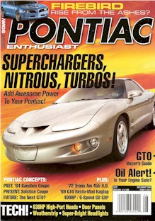 July / August 2008 Pontiac Enthusiast Cover