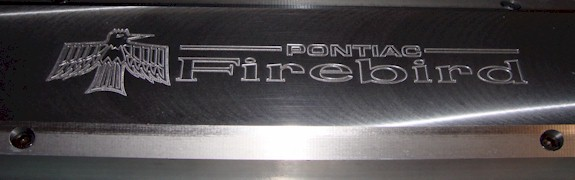 Billet-TEK covers with Late Firebird logo with Firebird and Pontiac