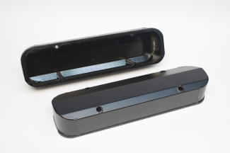 PRW black satin Pontiac valve covers