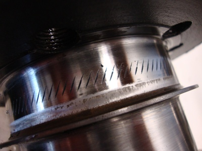 SCAT forged Pontiac  crankshaft serrations