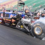 Tin Indian Performance Dragster Burnout Sunday Norwalk 2014