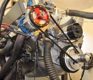 MR-1A complete engine with 340 cfm KRE D Port Aluminum Pontiac Heads