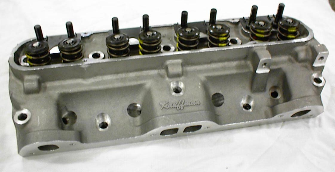 KRE 74 cc Pontiac Aluminum D Port Cylinder Head Complete