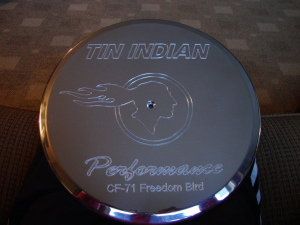 Tin Indian Performance air cleaner lid