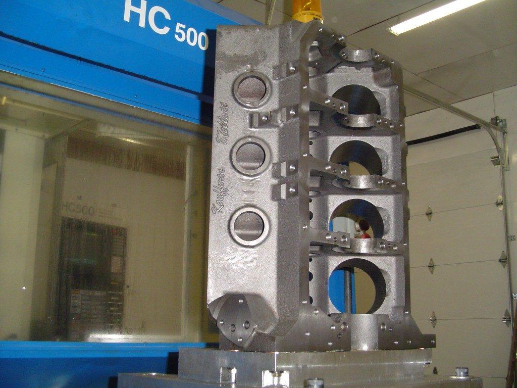 MR-1 Pontiac block on CNC machine