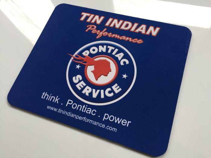 Tin Indian Performace Pontiac Service Logo mouse pad 1