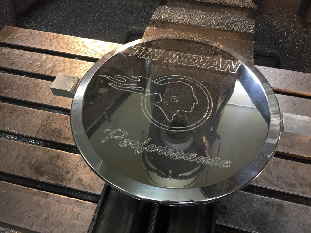 Tin Indian Performance Logo Pontiac Air Cleaner lid 3