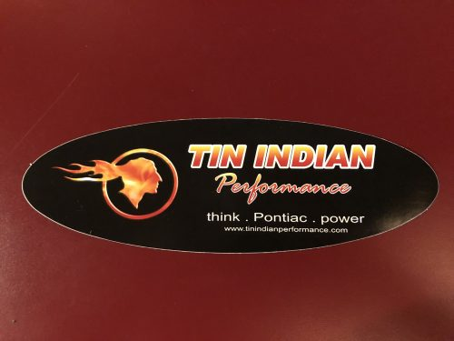Tin Indian Performance contingency sticker