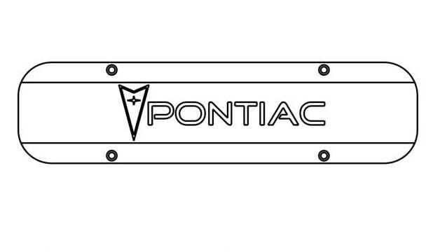 Pontiac valve cover logo with Pontiac Symbol CAD for site