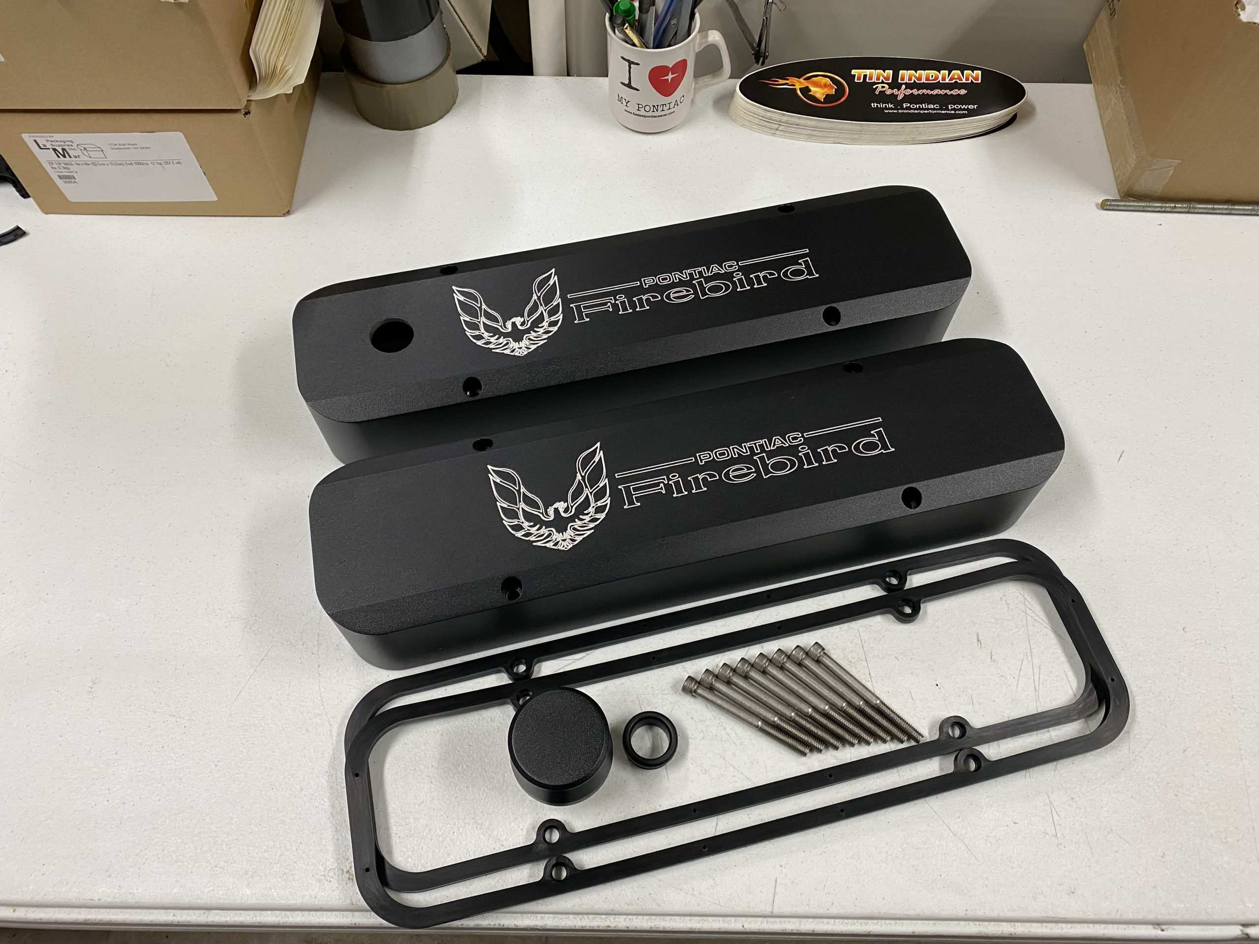 Disco Sled and Pontiac Firebird logo black satin coating 3