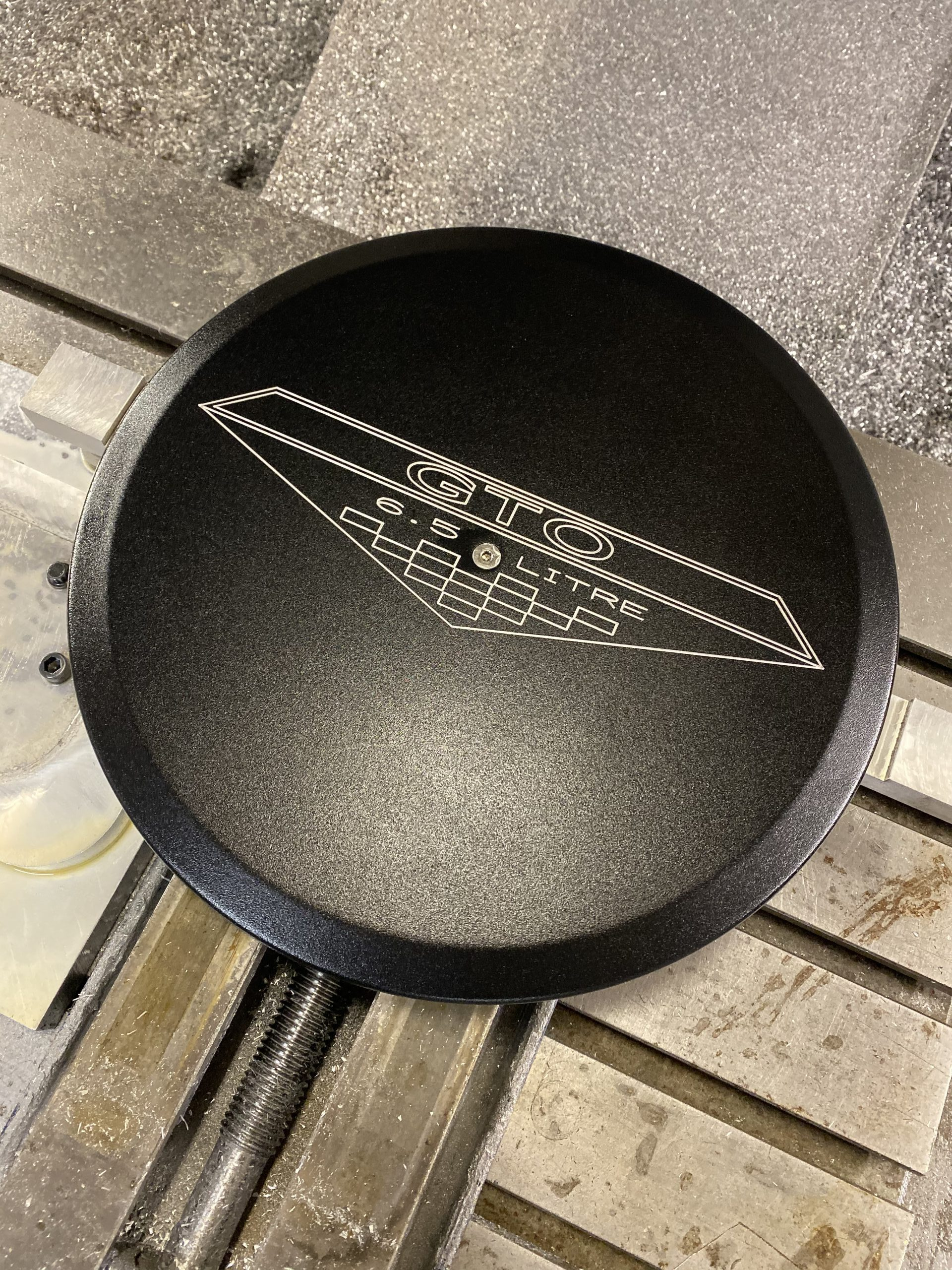 Powder Coated GTO emblem logo air cleaner lid 2