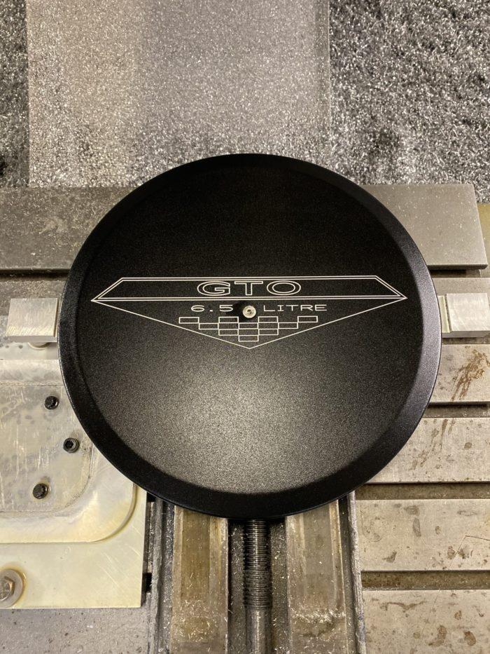 Powder Coated GTO emblem logo air cleaner lid