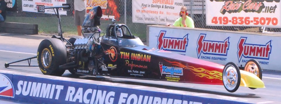 Tin Indian Performance Pontiac powered dragster 2012