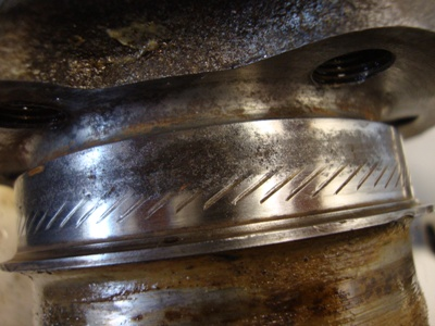 Stock Pontiac 428 crankshaft serrations