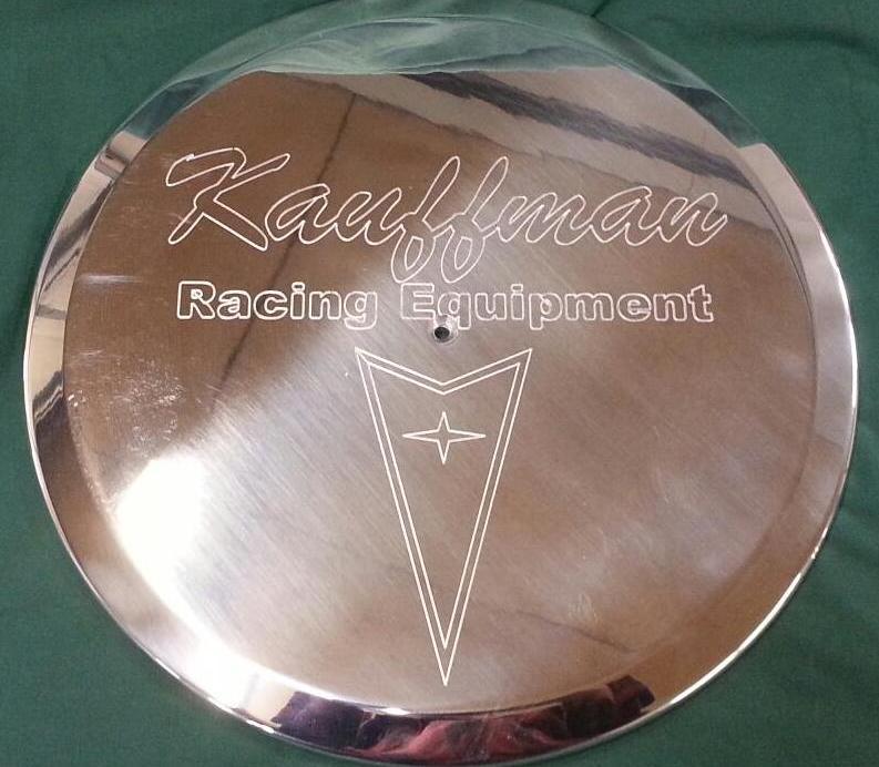 KRE Pontiac engraved air cleaner lid