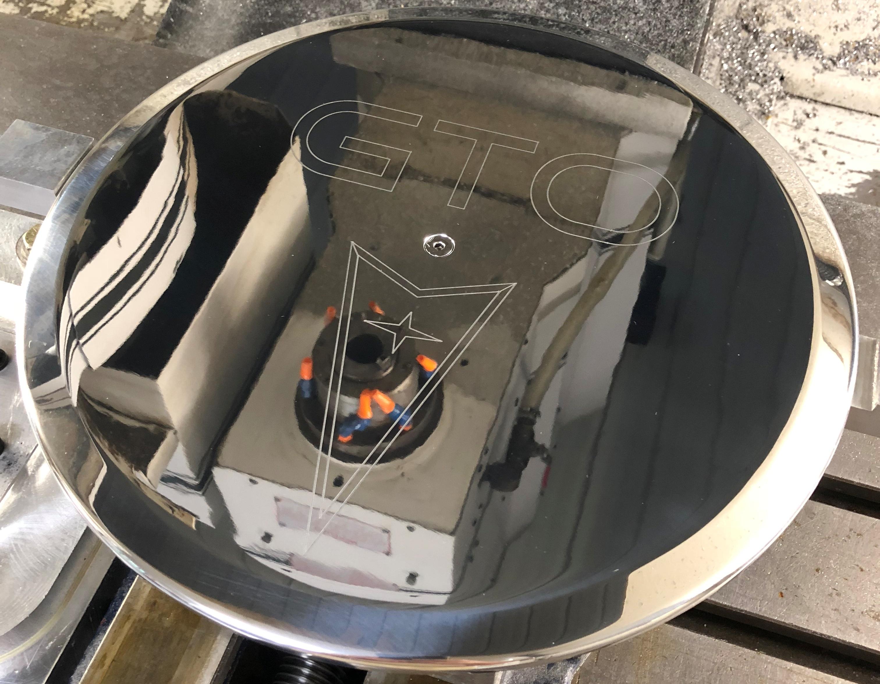 Pontiac GTO Logo Air Cleaner Lid 1