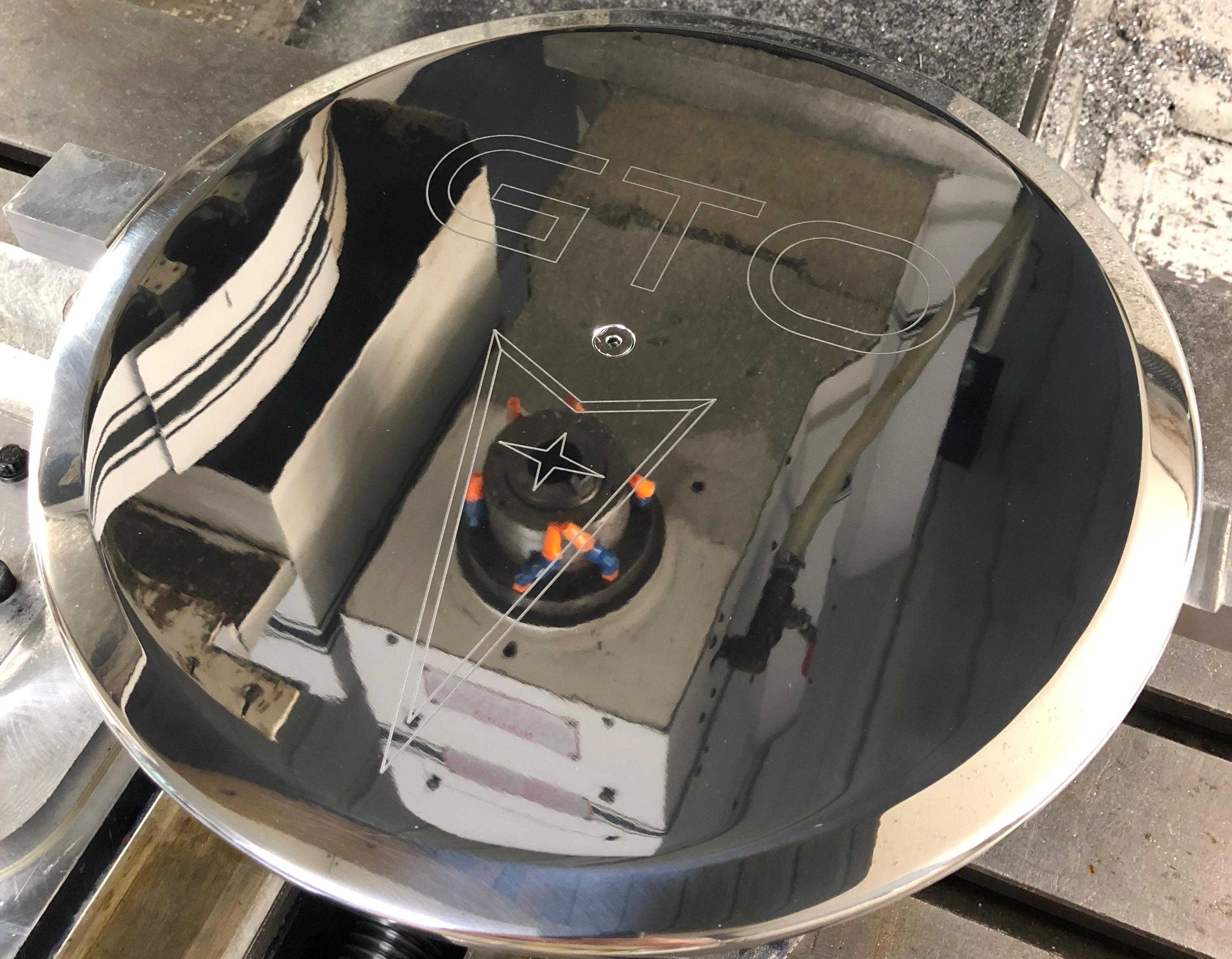 Pontiac GTO Logo Air Cleaner Lid 3
